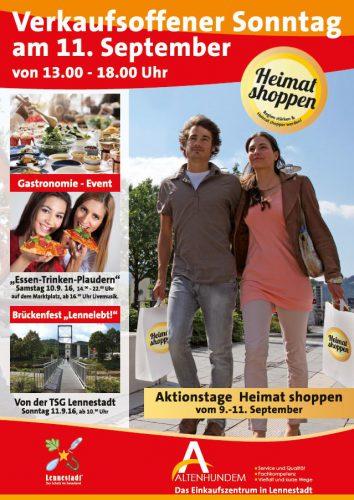 """Altenhundem bietet Shoppen beim """"Essen – Trinken– Plaudern"""""""