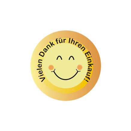 Smiley als Dankeschön für den Einkauf