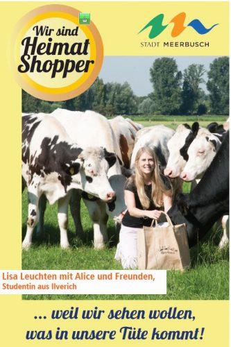 Kühe als Foto-Model für Heimatshoppen