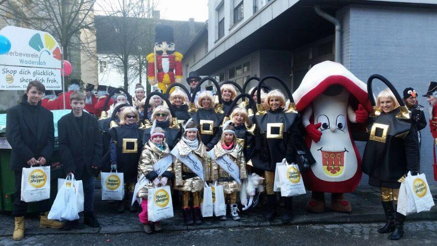"""""""Heimat shoppen"""" im Rosenmontagsumzug"""
