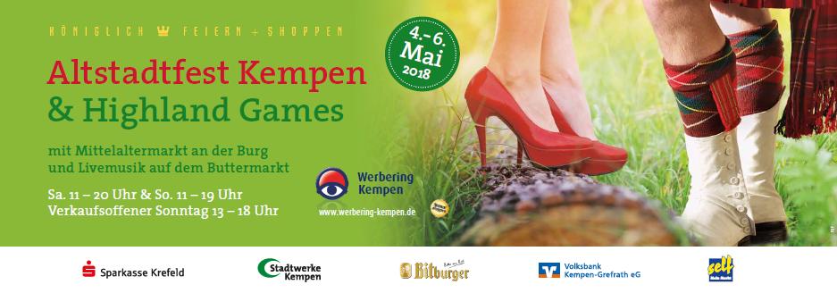Altstadtfest in Kempen meets Highland Games