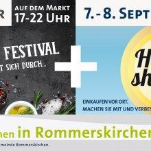 """Rommerskirchen lädt zum """"Heimat shoppen"""" mit Rommersfood-Festival ein"""