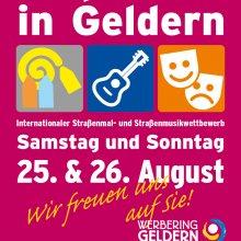 Straßenmal- & Straßenmusikwettbewerb am 25. und 26. August in Geldern