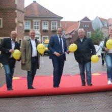 In Emslands Kreisstadt Meppen wird der Teppich ausgerollt