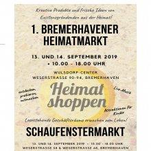 Heimat- & Schaufenstermarkt am 13. + 14. September 2019 von 10:00 bis 18:00 Uhr in Bremerhaven-Wulsdorf