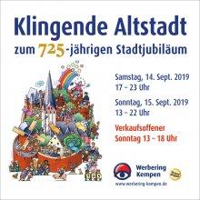 Klingende Altstadt zum 725-jährigen Stadtjubiläum – Ein Fest von Kempenern für Kempener!