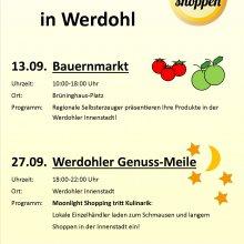 Bauernmarkt und Moonlight-Shopping in Werdohl