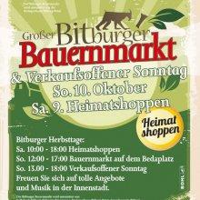 Großer Bitburger Bauernmarkt und verkaufsoffener Sonntag (9.10. & 10.10.2021)